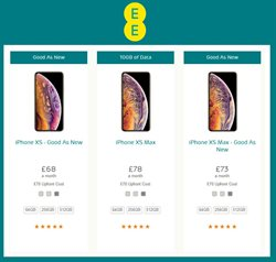 IPhone offers in the EE catalogue in Aberdeen