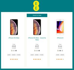 IPhone offers in the EE catalogue in Cheltenham