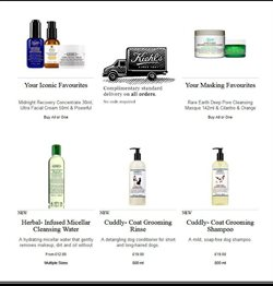 Shampoo offers in the Kiehl's catalogue in London