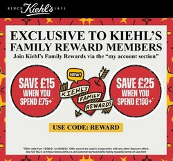 Pharmacy, Perfume & Beauty offers in the Kiehl's catalogue ( Published today)