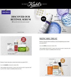 Pharmacy, Perfume & Beauty offers in the Kiehl's catalogue ( Expires today)