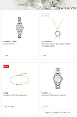 Mother's Day offers in the Beaverbrooks catalogue ( 10 days left)