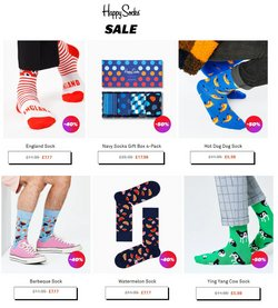 Happy Socks offers in the Happy Socks catalogue ( 5 days left)