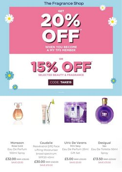 Pharmacy, Perfume & Beauty offers in the The Fragrance Shop catalogue ( Expires today )