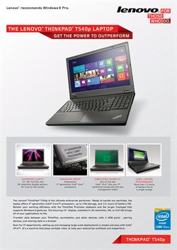 Lenovo offers in the Bristol catalogue