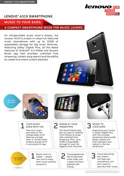 Music offers in the Lenovo catalogue in London