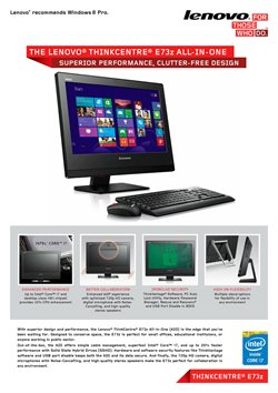 Lenovo offers in the London catalogue
