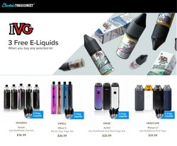 Electric Tobacconist offers in the Electric Tobacconist catalogue ( 21 days left)