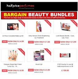 Pharmacy, Perfume & Beauty offers in the Half Price Perfumes catalogue ( 8 days left)