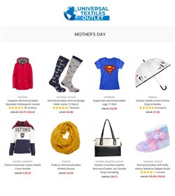 Mother's Day offers in the Universal Textiles catalogue ( 10 days left)