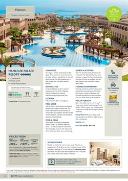 Offers of Swimming in Tui