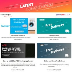 Offers of Washing machine in Direct Tvs