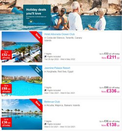 Offers of Flights in Low Cost Holidays