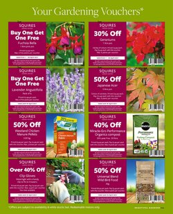 Offers of Compost in Squires Garden Centres