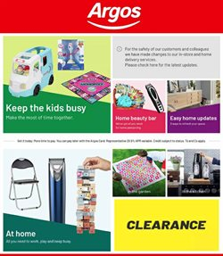 Department Stores offers in the Argos catalogue in Edinburgh ( 3 days left )