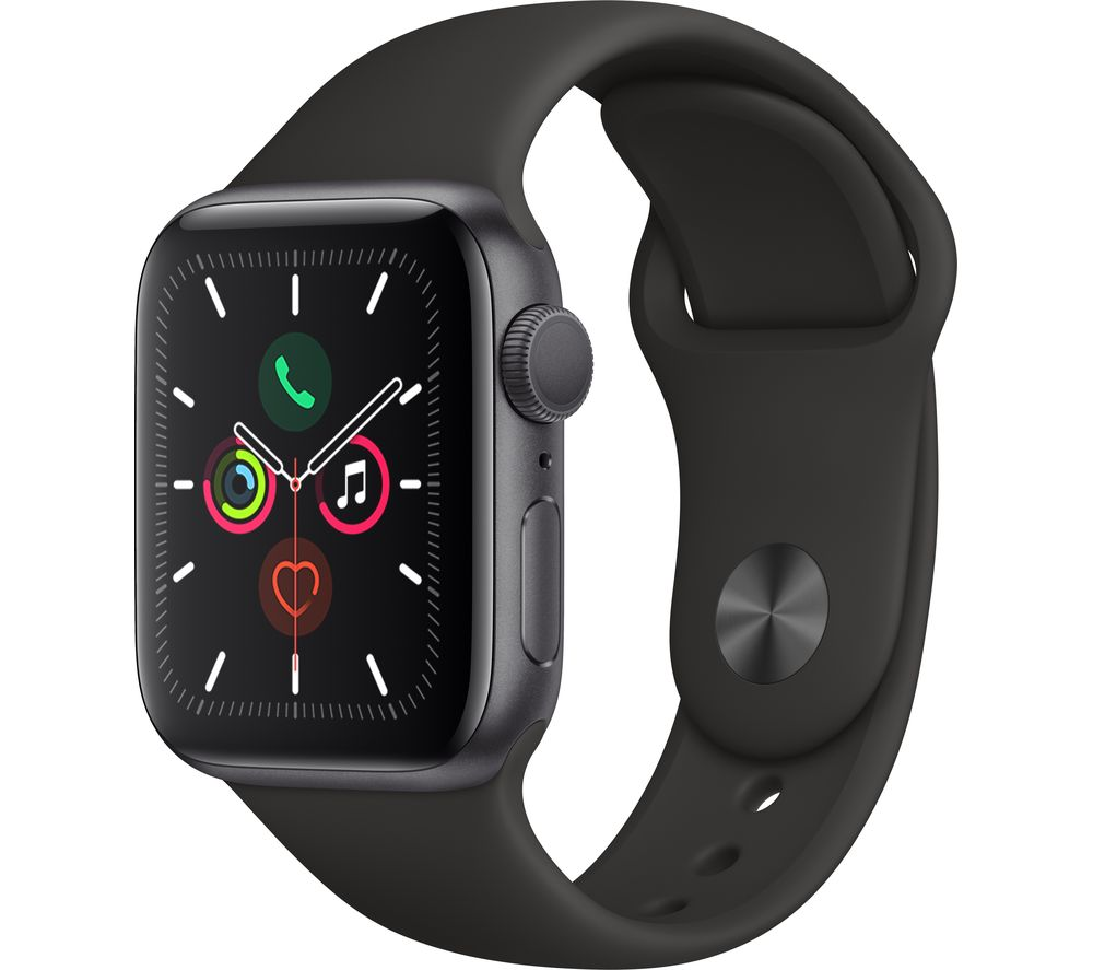 Watch Series 5 - Space Grey Aluminium with Black Sports Band, 44 mm offer at £429
