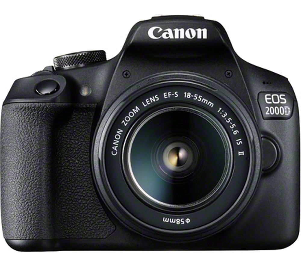 EOS 2000D DSLR Camera with EF-S 18-55 mm f/3.5-5.6 IS II Lens offer at £399