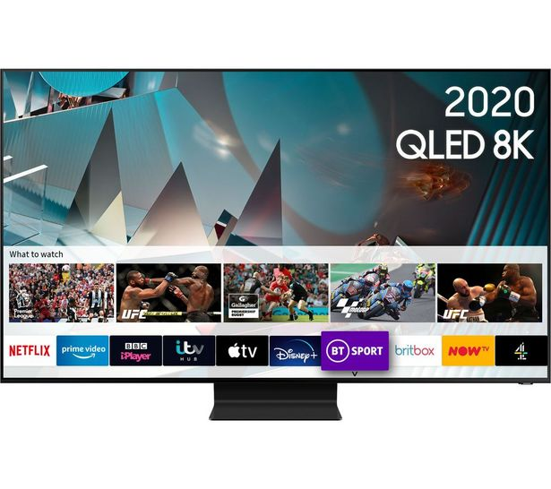 "SAMSUNG QE65Q800TATXXU 65"" Smart 8K HDR QLED TV with Bixby, Alexa & Google Assistant offer at £2799"