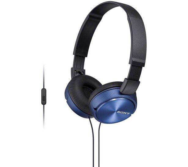 MDR-ZX310APL Headphones - Blue offer at £14.99