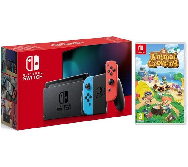 Switch Neon & Animal Crossing: New Horizons Bundle offer at £319