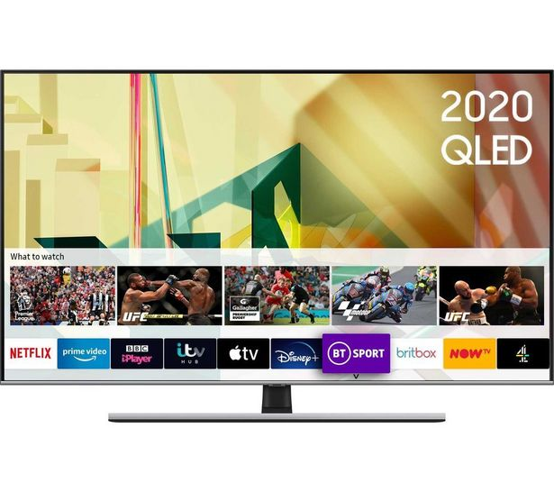 "QE55Q75TATXXU 55"" Smart 4K Ultra HD HDR QLED TV with Bixby, Alexa & Google Assistant offer at £899"