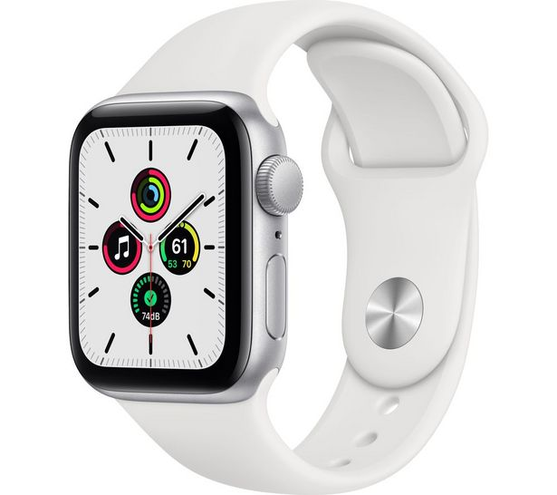 Watch SE - Silver Aluminium with White Sports Band, 40 mm offer at £269