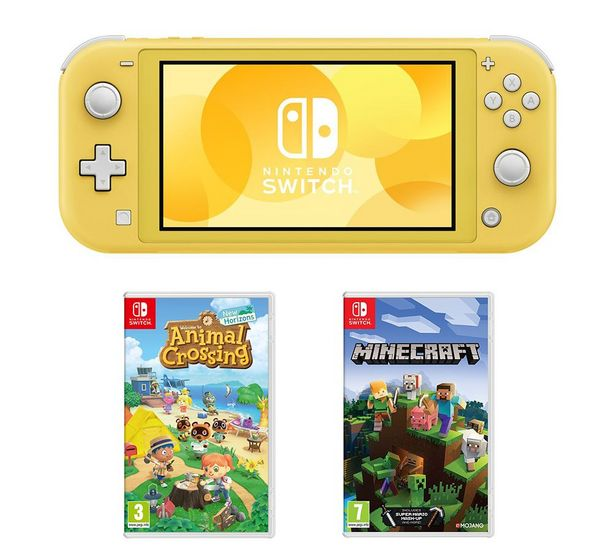Switch Lite, Animal Crossing: New Horizons & Minecraft Bundle - Yellow offer at £239