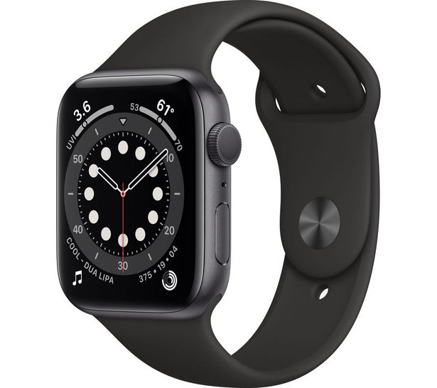Watch Series 6 - Space Grey Aluminium with Black Sports Band, 44 mm offer at £399