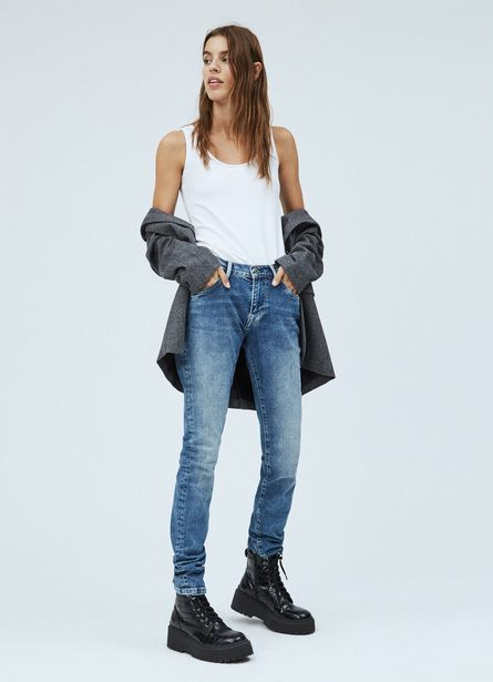VICTORIA SLIM FIT MID WAIST JEANS offer at £90