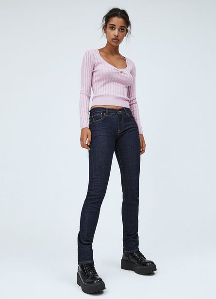 VICTORIA SLIM FIT MID WAIST JEANS offer at £80