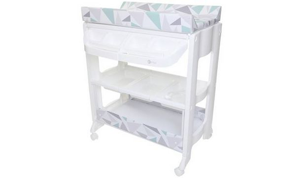 MyChild Peachy Changing Station with Bath, Grey Geo  offer at £69.98