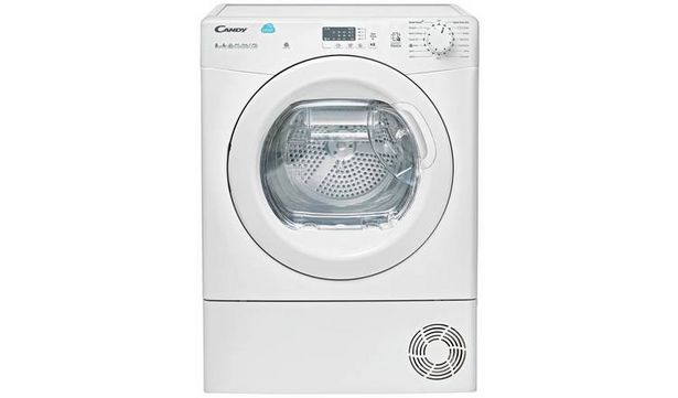 Candy CSH82LE 8KG Heat Pump Tumble Dryer - White offer at £329.98