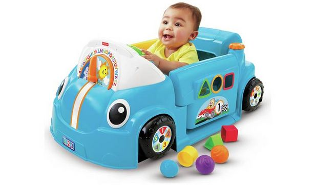 Fisher-Price Laugh & Learn Crawl a Round Car - Blue offer at £28.99