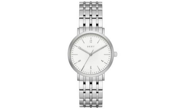 DKNY Silver Coloured Stainless Steel Bracelet Watch offer at £69.99