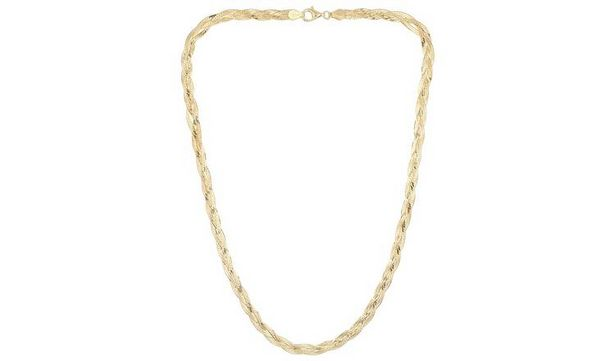 Revere 9ct Gold Plated Sterling Silver Braided Herringbone offer at £27.99
