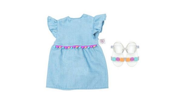 Chad Valley Designafriend Pom Pom Dress Outfit offer at £6.99