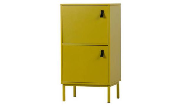 Woood Nico 2 Door Bedside Table - Mustard offer at £67.49