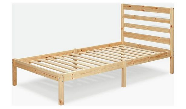 Argos Home Kaycie Bed Frame and Kids Mattress - Pine offer at £80