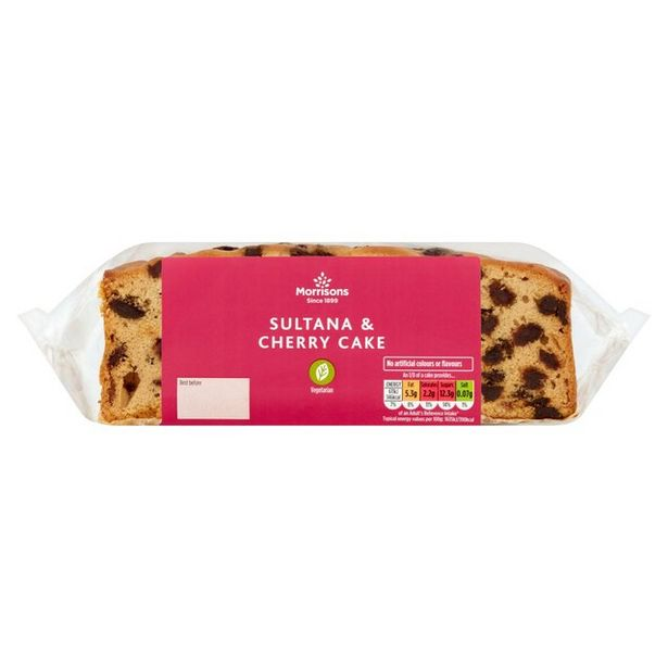 Morrisons Sultana & Cherry Slab Cake offer at £1.25