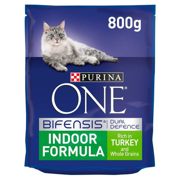 Purina One Indoor Cat Turkey and Whole Grain offer at £4