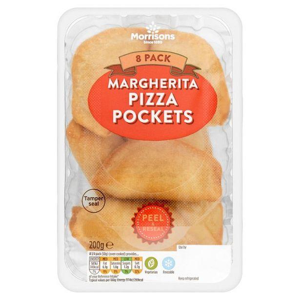 Morrisons Margherita Pizza Pockets 8'S offer at £1.75