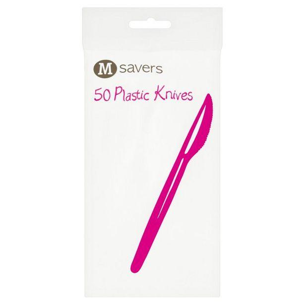 Morrisons Plastic Knives White offer at £0.75