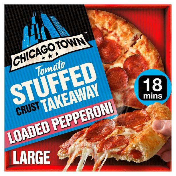 Chicago Town Takeaway Large Stuffed Pepperoni Pizza (Tomato stuffed crust) offer at £2.5