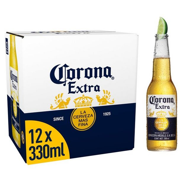 Corona Extra Premium Lager Beer bottles offer at £12