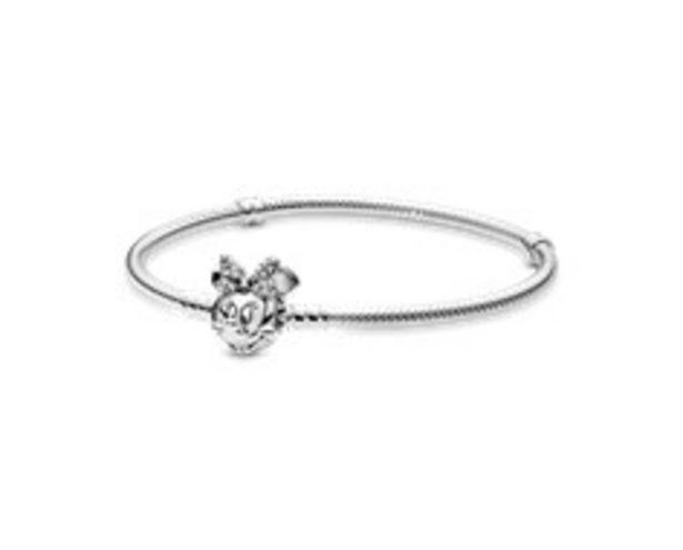 Disney Pandora Moments Pavé Minnie Mouse Clasp Snake Chain Bracelet offer at £80