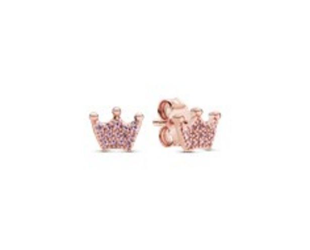 Pink Crown Stud Earrings offer at £55