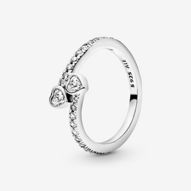 Two Sparkling Hearts Ring offer at £55