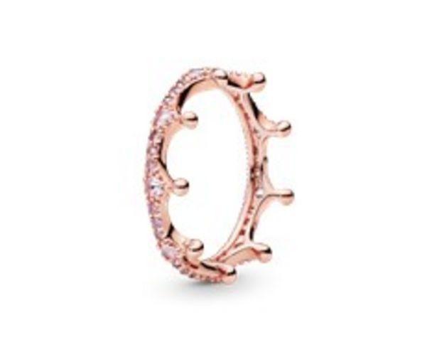 Pink Sparkling Crown Ring offer at £80