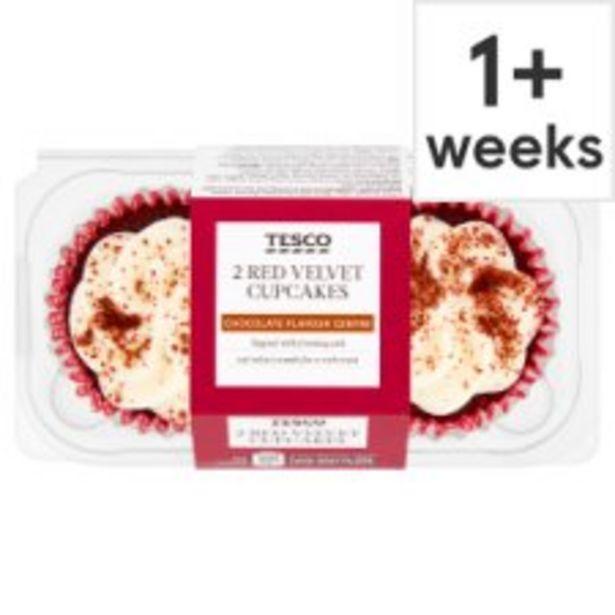 Tesco Red Velvet Cupcake 2 Pack offer at £1