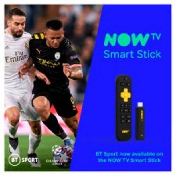 NOW TV Smart Stick with 1 month Entertainment 1 month Sky Cinema and 1 day Sky Sports offer at £25